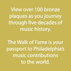 View over 100 bronze plaques as you journey through five decades of music history. The Walk of Fame is your passport to Philadelphia's music contributions to the world.